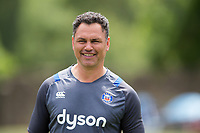 Bath Rugby Head Coach Tabai Matson looks on. Bath Rugby pre-season skills training on June 22, 2017 at Farleigh House in Bath, England. Photo by: Patrick Khachfe / Onside Images