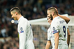 Real Madrid's Karim Benzema , Cristiano Ronaldo, Lucas Vazquez  during Champions League match between Real Madrid and Borussia Dortmund  at Santiago Bernabeu Stadium in Madrid , Spain. December 07, 2016. (ALTERPHOTOS/Rodrigo Jimenez)