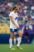 Orlando, FL - Sunday July 10, 2016: Julie King during a regular season National Women's Soccer League (NWSL) match between the Orlando Pride and the Boston Breakers at Camping World Stadium.