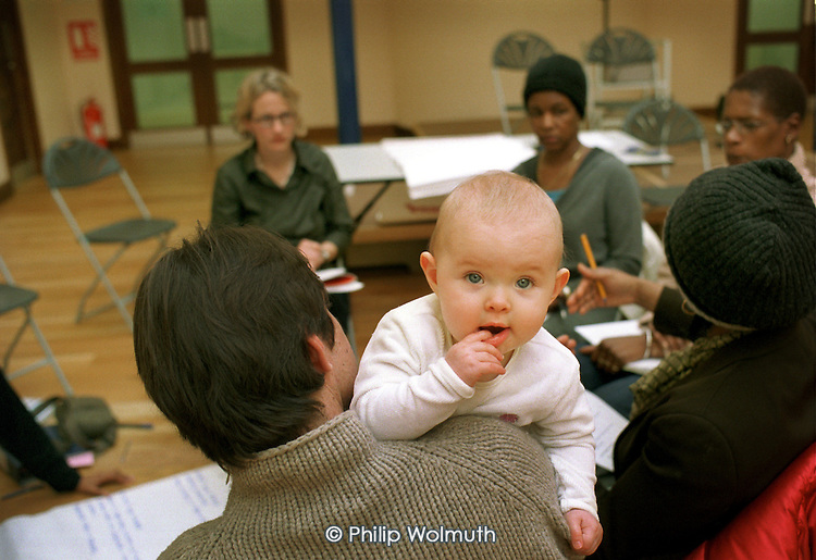 Sure Start meeting at the Beethoven Centre, Queens Park, London.