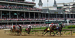 LOUISVILLE, KY - MAY 04: Backyard Heaven #4, ridden by Irad Ortiz, Jr, wins the Alysheba during an undercard race on Kentucky Oaks Day at Churchill Downs on May 4, 2018 in Louisville, Kentucky. (Photo by Mary Meks/Eclipse Sportswire/Getty Images)