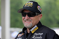 May 11, 2013; Commerce, GA, USA: NHRA funny car driver Jeff Arend during the Southern Nationals at Atlanta Dragway. Mandatory Credit: Mark J. Rebilas-