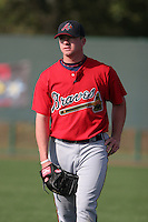 Atlanta Braves minor leaguer Tyler Wilson during Spring Training at Disney's Wide World of Sports on March 15, 2007 in Orlando, Florida.  (Mike Janes/Four Seam Images)