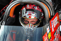 Oct. 31, 2008; Las Vegas, NV, USA: NHRA top fuel dragster driver Doug Kalitta during qualifying for the Las Vegas Nationals at The Strip in Las Vegas. Mandatory Credit: Mark J. Rebilas-