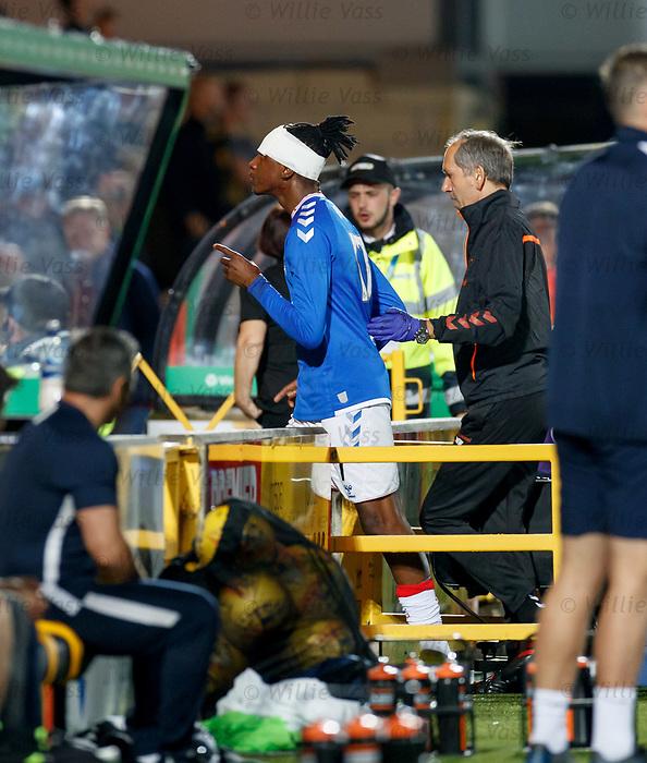 25.09.2018 Livingston v Rangers:  Joe Aribo off for treatment