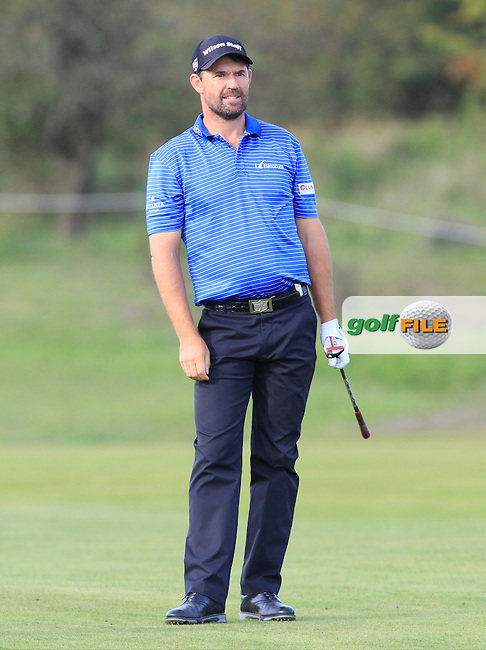 Padraig Harrington (IRL) on the 2nd fairway during Round 4 of the 2015 KLM Open at the Kennemer Golf &amp; Country Club in The Netherlands on 13/09/15.<br /> Picture: Thos Caffrey   Golffile