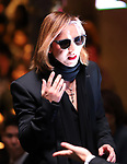 September 9, 2017, Tokyo, Japan - Japanese singer and composer YOSHIKI speaks before hundreds of shoppers at the opening ceremony for the Vogue Fashion's Night Out 2017 in Tokyo on Saturday, September 9, 2017. Some 630 shops participated one-night fashion shopping event in Tokyo. (Photo by Yoshio Tsunoda/AFLO) LWX -ytd-