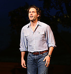 Steven Pasquale during the Pre-Opening Night Curtain Call for 'The Bridges of Madison County' with special guest Author Robert James Waller at The Gerald Schoenfeld Theatre on February 19, 2014 in New York City.