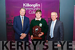 Killorglin Community College Student of The Year, Conor Roche receives his trophy from School Principal, Con Moynihan and Colm McEvoy, CEO of Kerry ETB.