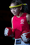 Purevjav Davaa (Red) of Mongolia enters to the ring prior the female muay 54KG division weight bout against Tsang Ching Yee (Not in picture) of Hong Kong during the East Asian Muaythai Championships 2017 at the Queen Elizabeth Stadium on 13 August 2017, in Hong Kong, China. Photo by Yu Chun Christopher Wong / Power Sport Images