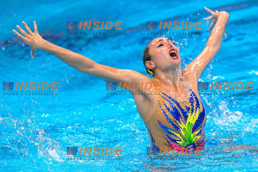 Anna VOLOSHYNA UKR Ukraine Silver Medal <br /> Solo Free Final <br /> London, Queen Elizabeth II Olympic Park Pool <br /> LEN 2016 European Aquatics Elite Championships <br /> Synchronized Swimming <br /> Day 02 10-05-2016<br /> Photo Andrea Staccioli/Deepbluemedia/Insidefoto