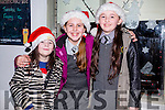 l-r   Lucy McKenna, Chloe Barrett and  Saoirse McKenna at the Castleisland Christmas lights Event on Friday