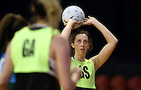 09.10.2016 Silver Ferns Bailey Mes in action during training at the Silver Dome in Launceston in Australia. Mandatory Photo Credit ©Michael Bradley.
