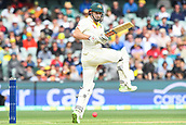 3rd December 2017, Adelaide Oval, Adelaide, Australia; The Ashes Series, Second Test, Day 2, Australia versus England; Shaun Marsh of Australia plays the ball down towards the ground for runs
