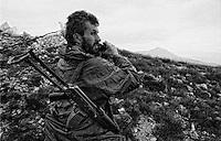 Balkan War: First line close to Kupres, Bosnia-Herzegovina 1993