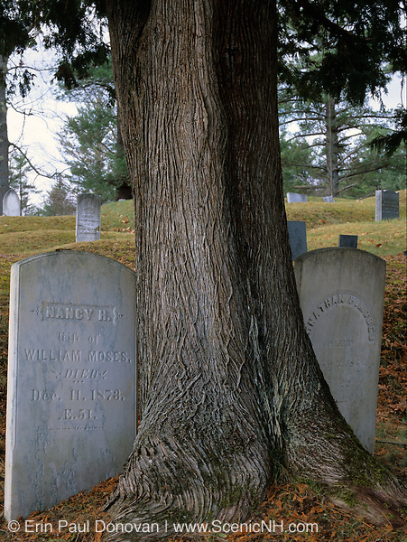Warren Village Cemetery in Warren, New Hampshire USA which is part of scenic New England