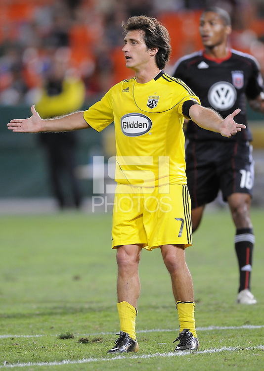 Columbus Crew  forward Guillermo Barros Schelotto (7).  The Columbus Crew defeated DC united 1-0, at RFK Stadium, Saturday September 4, 2010.