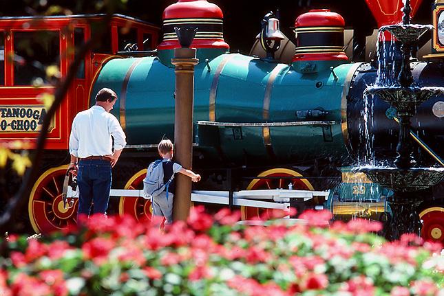 Choo Choo steam engine with tourist