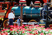 Choo Choo steam engine with tourist