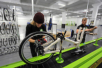 Pictured L-R: Matt Steele and Jack Appleby on the assembly line Monday 15 August 2016<br />