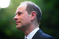 Pictured: Prince Edward, Earl of Wessex arrives at Llandaff Cathedral, Cardiff, Wales, UK.  Sunday 11 November 2018<br /> Re: Commemoration for the 100 years since the end of the First World War on Remembrance Day at the Llandaff Cathedral, in Llandaff, Cardiff, Wales, UK.