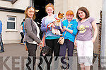 Jacinta O'Hanlon, Emma and Laura O'Connor (from Dingle) with Grainne Kavanagh (Ventry) taking part at the pet dog show during the West Kerry Agricultural Show at the Dingle Mart grounds on Sunday afternoon.