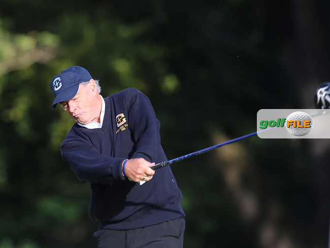 Desmond Scahill (Cill Dara) on the 1st tee during the AIG Jimmy Bruen Shield Final at Carton House.17/9/16<br /> <br /> Picture: Golffile | Jenny Matthews<br /> <br /> <br /> All photo usage must carry mandatory copyright credit (&copy; Golffile | Jenny Matthews)