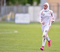 Monfalcone, Italy, April 26, 2016.<br /> Iran's #17 Mitra Mohammadi during USA v Iran football match at Gradisca Tournament of Nations (women's tournament). Monfalcone's stadium.<br /> © ph Simone Ferraro / Isiphotos