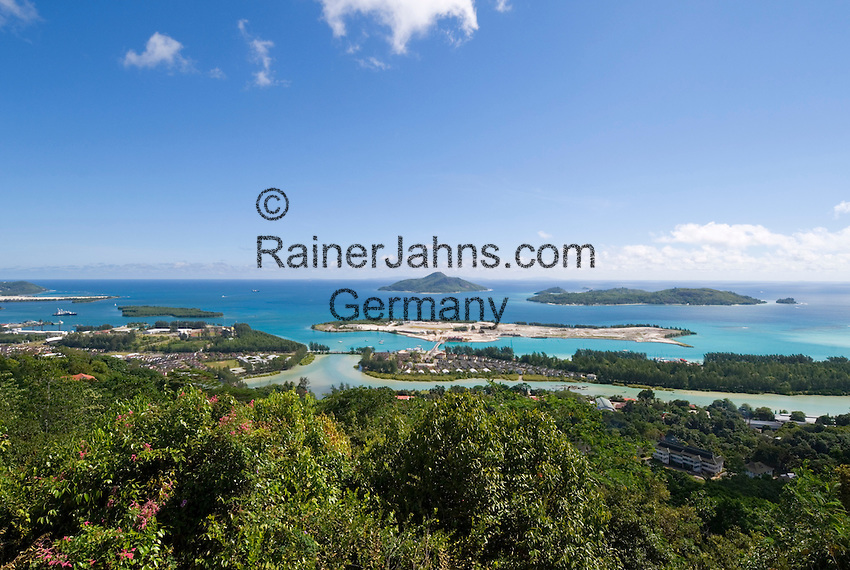 Seychelles, Island Mahe, capital Victoria and Islands Ste. Anne and Cerf