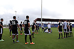 11 January 2015: Kris Kelderman (in white) instructs Team Nitro Charge before their game. The 2015 MLS Player Combine was held on the cricket oval at Central Broward Regional Park in Lauderhill, Florida.