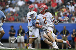 30 MAY 2016: Colin Heacock (2) of the University of Maryland against  the University of North Carolina during the Division I Men's Lacrosse Championship held at Lincoln Financial Field in Philadelphia, PA. Larry French/NCAA Photos