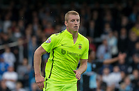 Scott Harrison of Hartlepool United during the Sky Bet League 2 match between Wycombe Wanderers and Hartlepool United at Adams Park, High Wycombe, England on 5 September 2015. Photo by Andy Rowland.