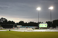 A gloomy scene at Chelmsford as rain delays play during Essex Eagles vs Glamorgan, NatWest T20 Blast Cricket at the Essex County Ground on 29th July 2016