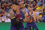 League ACB-ENDESA 2017/2018.<br /> PlayOff-Semifinal-Game: 3<br /> FC Barcelona Lassa vs Kirolbet Baskonia: 67-65.<br /> Edwin Jackson.