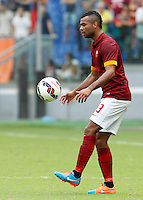 Calcio, Serie A: Roma vs Cagliari. Roma, stadio Olimpico, 21 settembre 2014.<br /> Roma defender Ashley Cole, of Britain, controls the ball during the Italian Serie A football match between AS Roma and Cagliari at Rome's Olympic stadium, 21 September 2014.<br /> UPDATE IMAGES PRESS/Riccardo De Luca