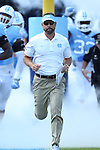 24 September 2016: UNC head coach Larry Fedora. The University of North Carolina Tar Heels hosted the University of Pittsburgh Panthers at Kenan Memorial Stadium in Chapel Hill, North Carolina in a 2016 NCAA Division I College Football game. UNC won the game 37-36.