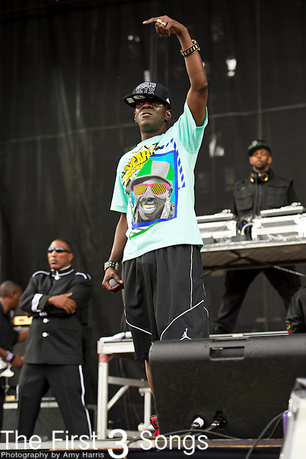 Flavor Flav (born William Jonathan Drayton, Jr.) of Public Enemy performs during the 2013 Budweiser Made in America Festival in Philadelphia, Pennsylvania.