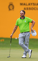Andy Sullivan (ENG) on the 15th tee during Round 3 of the Maybank Malaysian Open at the Kuala Lumpur Golf & Country Club on Saturday 7th February 2015.<br /> Picture:  Thos Caffrey / www.golffile.ie
