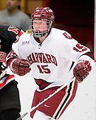 Katharine Chute (Harvard - 15) - The Harvard University Crimson defeated the Northeastern University Huskies 1-0 to win the 2010 Beanpot on Tuesday, February 9, 2010, at the Bright Hockey Center in Cambridge, Massachusetts.