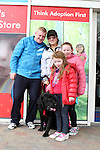 "Willie, Laura, Michaela and Nicole with Bruno enjoying ""National Dog Walking Day"" at Petmania...(Photo credit should read Jenny Matthews www.newsfile.ie)....This Picture has been sent you under the conditions enclosed by:.Newsfile Ltd..The Studio,.Millmount Abbey,.Drogheda,.Co Meath..Ireland..Tel: +353(0)41-9871240.Fax: +353(0)41-9871260.GSM: +353(0)86-2500958.email: pictures@newsfile.ie.www.newsfile.ie."
