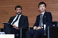 Steven Zhang-Andrea Agnelli <br /> Milano 19/09/2019 - convegno Financial Fair Play / Photo Daniele Buffa/Image Sport/Insidefoto