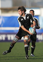 New Zealand second row Samuel Whitelock looks for support during the Division A clash at Ravenhill. Result New Zealand 37 Wales 14.