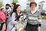 "Maria and Sheila Duff with Tristan enjoying ""National Dog Walking Day"" at Petmania....(Photo credit should read Jenny Matthews www.newsfile.ie)....This Picture has been sent you under the conditions enclosed by:.Newsfile Ltd..The Studio,.Millmount Abbey,.Drogheda,.Co Meath..Ireland..Tel: +353(0)41-9871240.Fax: +353(0)41-9871260.GSM: +353(0)86-2500958.email: pictures@newsfile.ie.www.newsfile.ie."