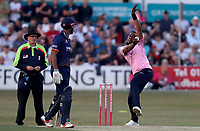 Dwayne Bravo of Middlesex in bowling action during Essex Eagles vs Middlesex, Vitality Blast T20 Cricket at The Cloudfm County Ground on 6th July 2018