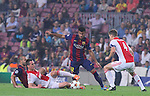 21.10.2014 Barcelona, Spain. UEFA Champions League matchday 3 Group 3. Picture show  Rafinha in action during game between FC Barcelona against Ajax at Camp Nou