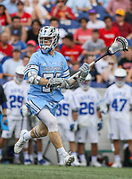Annapolis, MD - May 20, 2018: Johns Hopkins Blue Jays Joel Tinney (55) in action during the quarterfinal game between Duke vs John Hopkins at  Navy-Marine Corps Memorial Stadium in Annapolis, MD.   (Photo by Elliott Brown/Media Images International)