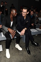 Tinie Tempah and David Gandy at front row for the TOPMAN Designs show as part of London Collections Men AW14, London.  06/01/2014 Picture by: Steve Vas / Featureflash