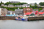 Waterfront quayside at North Pier, Oban, Argyll and Bute, Scotland, UK