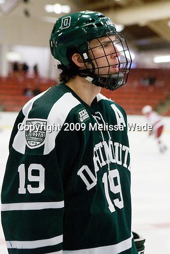 Joe Gaudet (Dartmouth - 19) - The Dartmouth College Big Green defeated the Harvard University Crimson 6-2 on Sunday, November 29, 2009, at Bright Hockey Center in Cambridge, Massachusetts.