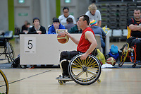Action from the Basketball Wheelchair National Championships 2013 at ASB Sports Centre, Wellington, New Zealand on Saturday 21 September.<br />